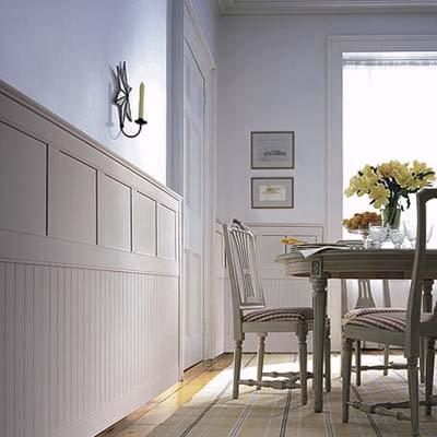 lovely living rooms beadboard | Lesson: Wainscoting and Paneling | Coats Homes | Highland ...