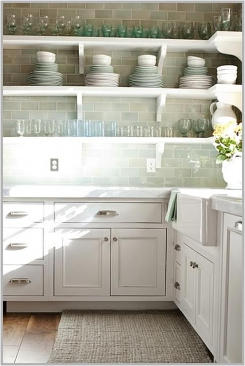 amazing Kitchens With Shelves Instead Of Upper Cabinets #6: Design in Mind: No Upper Cabinets in the Kitchen